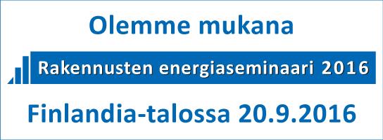 Retermia Oy osallistuu Rakennusten energiaseminaariin 20.9.2016